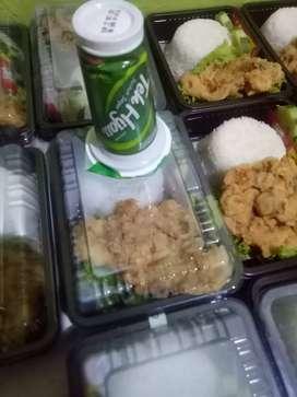 nasi ayam krispy+teh gelas