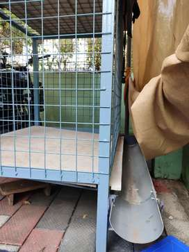 New cage for dogs with proper drainage facility