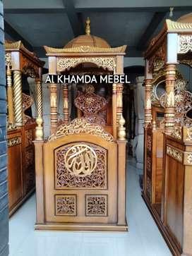 Ready Mimbar Masjid Material Kayu Jati Berkualitas @626