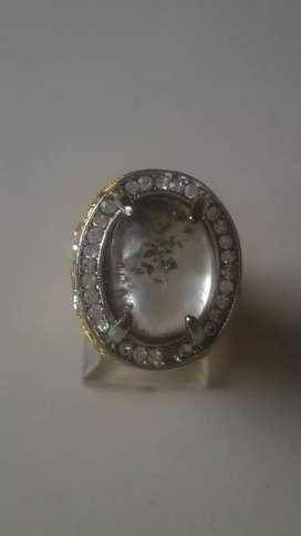 Natural batu cincin akik kecubung karang ring 10