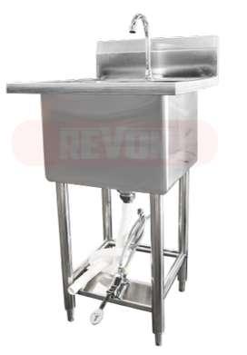 wastafel stainless steel portable kran injak bisa custom jakarta utara