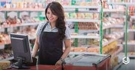 Penjaga toko Perempuan Max 25 Domisili lawang