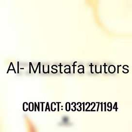 Al Mustafa Tutors wants Skilled Male & Female Home Tutors