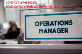 URGENTLY REQUIRED OPERATION MANAGER