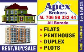3bhk(Furnished) duplexes,flats
