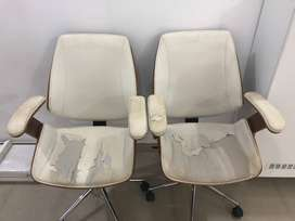 Set of 2 office chairs (damaged upholstery) (North Goa)