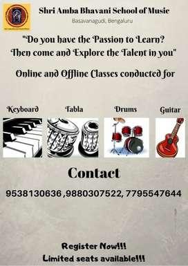 Online Music classes.
