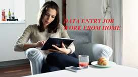 Data entry work notepad typing work from home