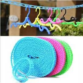 Jemuran tali 5m gantungan baju