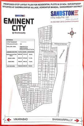 DTCP open plots in Shankarpally