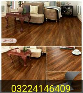 Shop open (wallpaper vinyl floor wooden floors blinds astro turf)