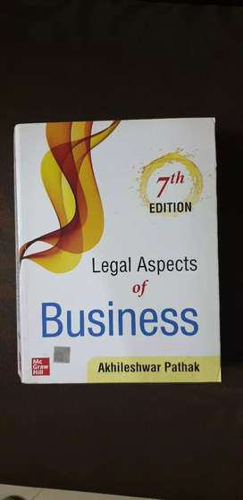 Book, law, legal aspects of business by pathak