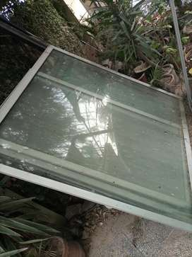 Glass with frame