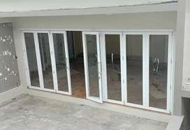 Pintu lipat dan Kusen alumunium minimalis