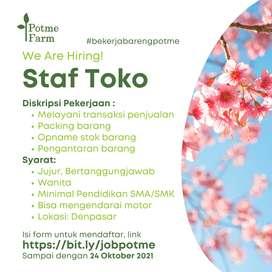 Lowongan Staf Toko Stan Bunga