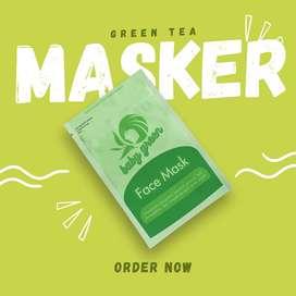 Baby Green Masker   Green Tea Masker   Masker Kecantikan