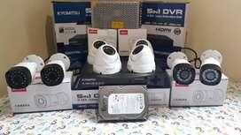 Paket 8 camera fulset full HD 1080p