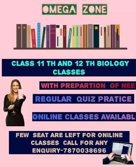 BIOLOGY Classes for 12 th and 11th student (oniline classes)