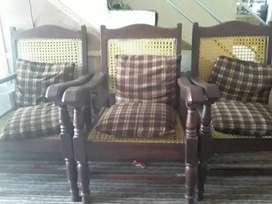 Pure wood chairs and complete furniture set.