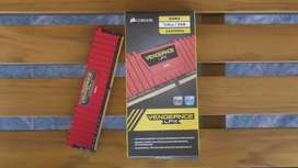 CORSAIR 8GB Vengeance LPX DDR4 PC4-19200 2400MHz Desktop Memory - Red