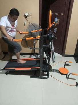 Treadmill manual 6 fungsi dengan pengiriman gratis plus garansi