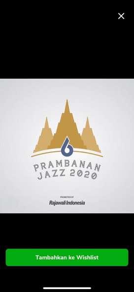 Tiket prambanan jazz friday pass 30 oktober 2020