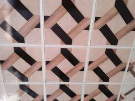 Pvc wall panel,  roof ceiling, wooden and vinyl flooring available.