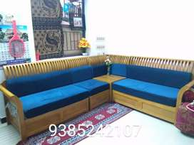 Newly bought wooden sofa