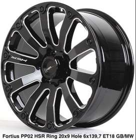 Velg Untuk Fortuner Ring 20 Pcd 6X139 HSR model FORTIUS PP02