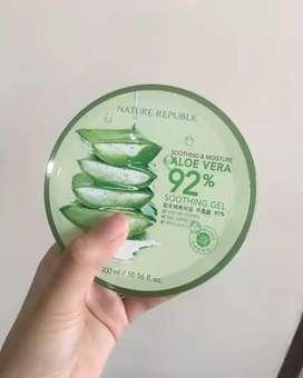 Nature Republic Aloevera Gel 300 ml Jar ORIGINAL KOREA