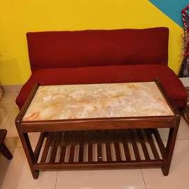 Sofa plus table