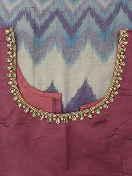 Aari like work in stitched blouse