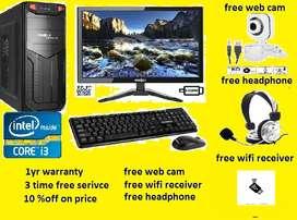 10%off frontech i3 3rd generation NEW PC 4g bram 250gb + free webcam