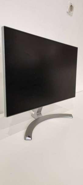 Monitor LG 24 Inch IPS 24MP88HM-S Fullset Dus Murah Like New Mulus
