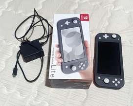Jual BEKAS Nintendo switch lite warna dark grey