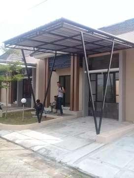 Kanopi minimalis galvanis/stenlis