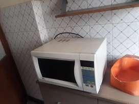 Microwave, gas burner, washing machine