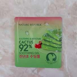 Nature republic cactus 92% soothing gel sample