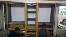 STEEL 3 DOOR WARDROBE + Ceiling Door