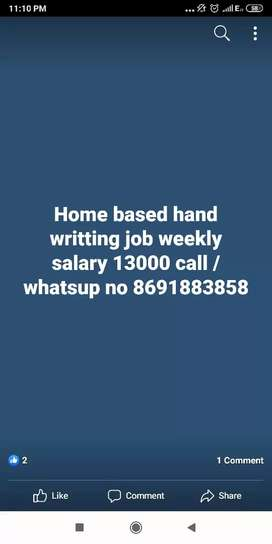 Hand writting home based job.