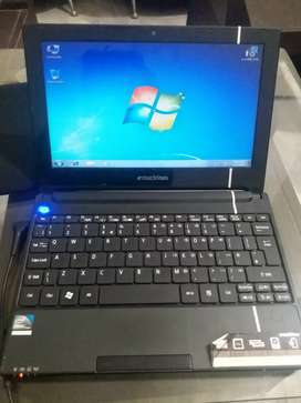 Emachines Atom Laptop (250gb Hard, 1gb ram,N455) in 7500 only