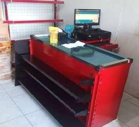 Komputer kasir printer dan meja
