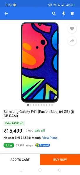 Samsung Galaxy F-41 brand new 2 days old