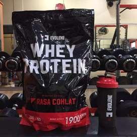 Evolene Whey Protein 1900 gram 1,9 kg 50 sachet 5 lb lbs Evo