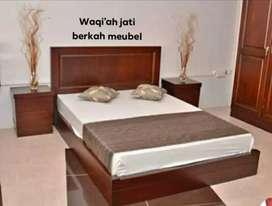 Tempat tidur minimalis modern, bahan kayu jati tua terbaik