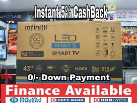 """Infinitii 40"""" UHD 4K SMART ANDROID LED TV - 2 Years Warranty"""