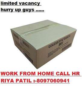 WORK FROM HOME URGENTLY HIRING LOCATION GUJARAT SURAT ONLY JOB