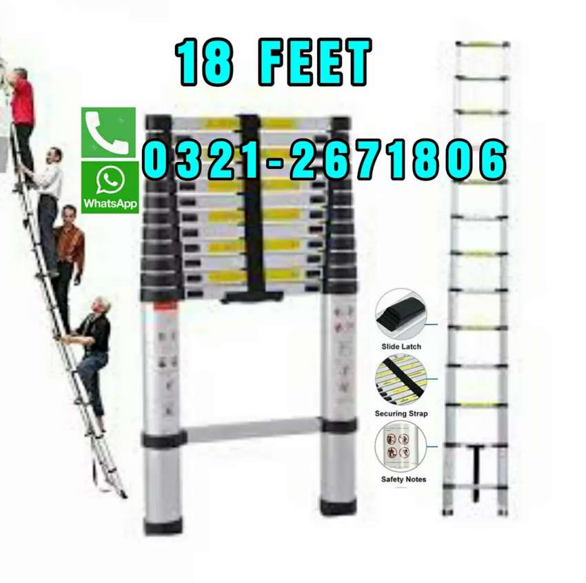 HEAVY HOUSE HOLD OUTDOOR  TELESCOPIC LADDER