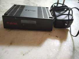 Airtel DTH setup box with adaptor