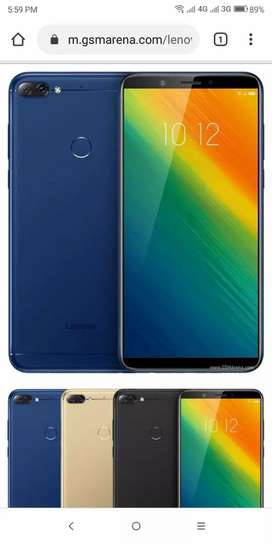 Lenovo K5 Note 2018 Box pack in blue color . PTA Approved
